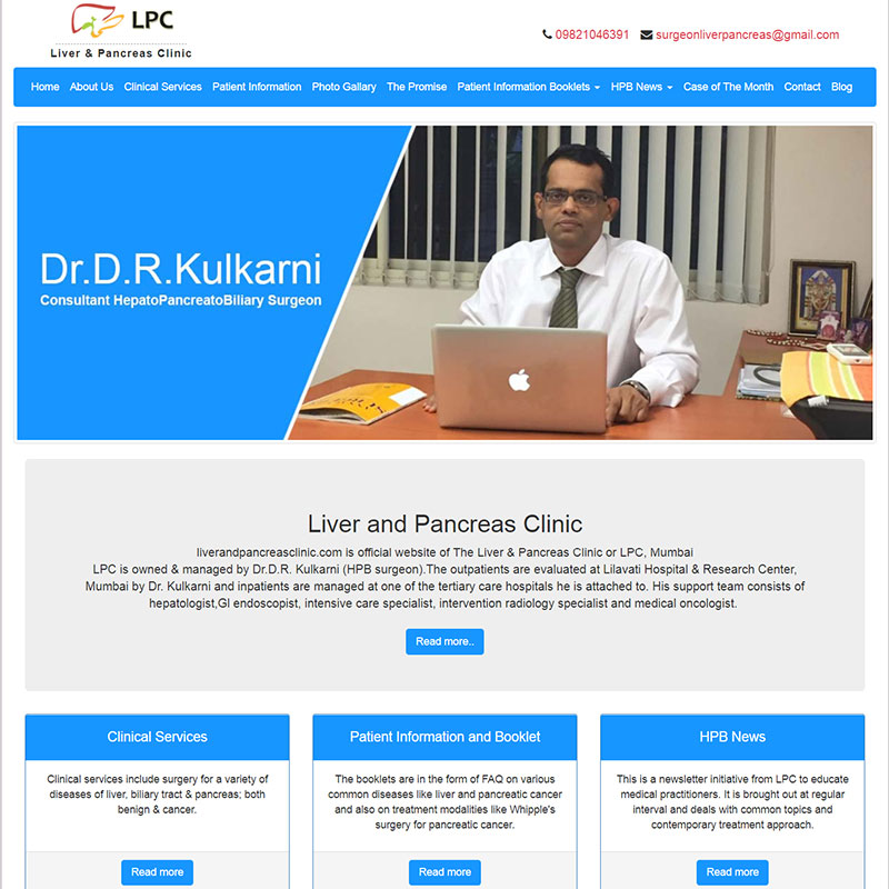 Liver Pancreas Clinic / Website Design & Development