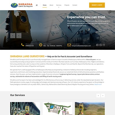 land surveyors website design