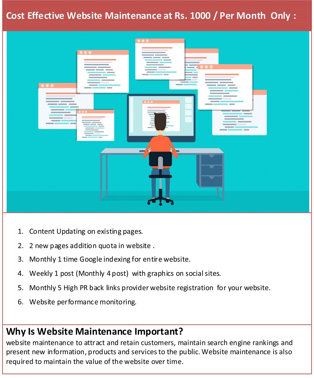 website maintenance services mumbai